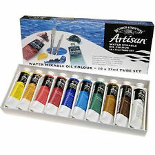 Winsor & Newton Artisan Oil Paint Set 10 x 37ml Art Artist Canvas Tube