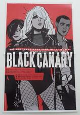 BLACK CANARY  Poster WONDERCON 2016 Exclusive DC Comics  Fletcher  Wu