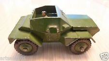 ORIGINAL VINTAGE DINKY TOYS MILITARY SCOUT CAR 673 ARMY GREEN MECCANO ENGLAND