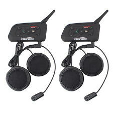2x V6 Pro 1200M Intercomunicador Interphone Bluetooth Auriculares Moto Interfono