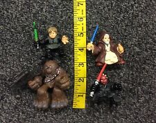 Galactic Heroes Star Wars Mixed Toy Lot Luke Obi Wan Chewbacca Darth Maul
