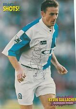 KEVIN GALLACHER BLACKBURN ROVERS 1992-2000 ORIGINAL HAND SIGNED MAGAZINE CUTTING