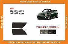 pellicola oscurante vetri pre tagliata mini cooper cabrio dal 2011 kit ant