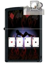 Zippo 9805 poker lady 4 aces Lighter with PIPE INSERT PL