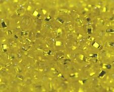 """Czech Glass Seed Beads 6/0 """" SILVER LINED CITRUS """" Loose  40 grams"""