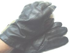 "Men's ""Playboy""Genuine Leather 100% Cashmere Lined Gloves,Black,XL, Style675"
