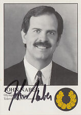 Card signed by swimmer ~ John Naber