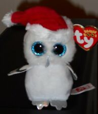 "Ty Beanie Boos Key Clip ~ TINSEL the 3"" Owl ~ Claires Exclusive~ NEW ~ IN HAND"