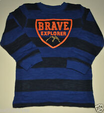 Gymboree boy brave explorer striped tee shirt 12-18 months NWT top long sleeve