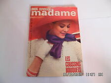MON OUVRAGE MADAME N°212 05/1966 MODE COUTURE TRICOT DECORATION BRODERIE   I32