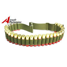 "51"" 29Round Shotgun Shell Ammo Belt Sling Bandolier for .410 12 20 24 GA Olive D"