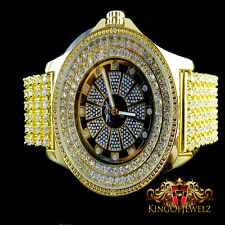 NEW MENS REAL DIAMOND YELLOW GOLD FINISH JO JINO KING MASTER RAPPER CUSTOM WATCH