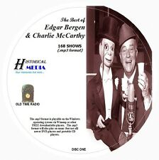 EDGAR BERGEN & CHARLIE McCARTHY - 168 Shows Old Time Radio MP3 Format OTR 2 CDs