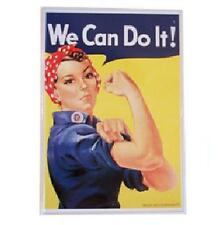 Rosie the Riveter, 'We Can Do It!' Small, Metal Tin Sign