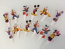 12x Mickey Mouse Gang Cupcake Toppers/picks - Party Decorations