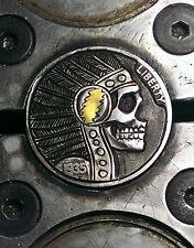Coalburn classic Hobo Nickel chief skull Grateful Dead 24k gold inlay