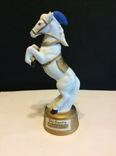 1975 Ski Country 2oz. Mini Bourbon Whiskey Decanter Lipizzaner Circus Horse