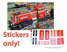 DB Schenker Railion Stickers Lego 3677 Cargo Train Red Custom Decals 10219 Decal