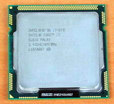Intel Core i7 870 2.93 GHz Quad-Core L3 8M Processor Socket 1156 CPU SLBJG 95W