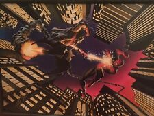 Alex Ross Spiderman vs Green Goblin Giclee on Canvas #12/90