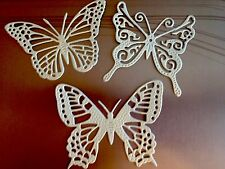 DIE CUTS-SCRAPBOOKS-CARDS-EMBELLISHMENTS-TAGS PALE BLUE PEARLESCENT BUTTERFLIES.