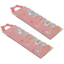 2 Fogli Carino Cartoon Segnalibro Sticker Bookmark Marker Memo Sticky Adesivo