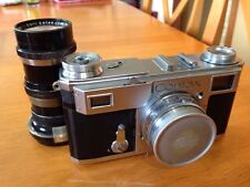 Zeiss Ikon Contax II 35mm Rangefinder With Two Lenses And Leather Case