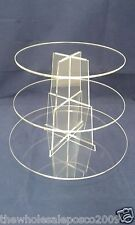 Cup Cake Display Stand 3 Tier Clear Acrylic Perspex Plastic