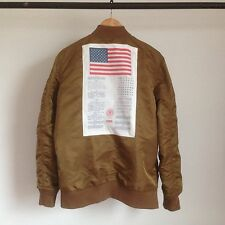 SUPREME BLOOD CHIT REVERSIBLE MA-1 MILITARY JACKET GOLD BOX LOGO M65 A2 DECK L