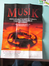 NINTENDO 64 N64 MORTAL KOMBAT MUSIK VIDEO GAME SOUNDTRACK POSTER
