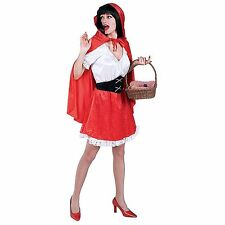 Little Red Riding Hood Storybook Womens Adult Fancy Dress Party Costume One Size