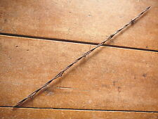 GLIDDENS 2-PT SQUARE WIRE BLUNT CUT & COIL WRAPPED BARBS  -  ANTIQUE BARBED WIRE