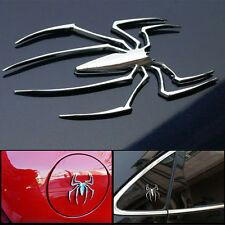 New Universal Metal Spider Shape Emblem Chrome 3D Car Truck Motor Decal Sticker
