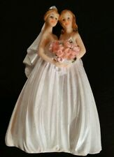 December Diamonds Medium Lesbian Brides Wedding Cake Topper Gay Marriage Ceramic