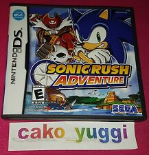 SONIC RUSH ADVENTURE NINTENDO DS TRES BON ETAT  VERSION  US AMERICAINE