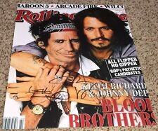 Keith Richards and Johnny Depp Signed 11x14 Rolling Stone Photo with proof