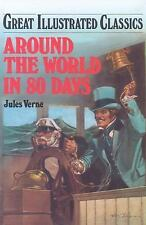 Around the World in 80 Days Great Illustrated Classics by Jules Verne (1989, HC)