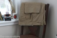 Incotex Flat Front Khaki Pants 39/32 Solid Brown Inco Chino Seam Repair Used