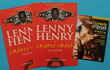 LENNY HENRY FLYERS -THE  COMEDY OF ERRORS ( SHAKEPEARE ) & CRADLE TO GRAVE TOUR