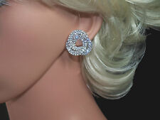 Sparkling, Diamante, Swirl Clip On Earrings  (NB024)