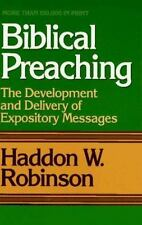 Biblical Preaching: The Development and Delivery of Expository Message-ExLibrary