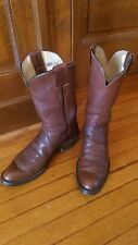 OLATHE brown leather Western/Cowboy boot 9.5 B
