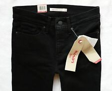 Women's Jet Black Levis 314 Shaping Straight Stretch Jeans size 6 R W25 L 32