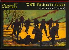 Caesar Miniatures WWII PARTISANS IN EUROPE French & Balkans Figure Set