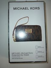 Michael Kors iphone 3 4 5 Essential Zip phone wallet clutch case purse New