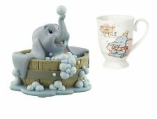 Disney Magical Moments Dumbo 'Smile' Mug & Dumbo in a Bath Figurine