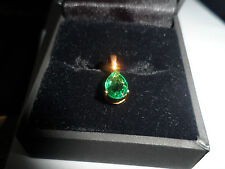 BEAUTIFUL 9K NATUAL MAJESTIC EMERALD GOLD PENDANT EYE CLEAN MUSEUM QUALITY GEM.
