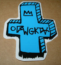 ODD FUTURE OFWGKTA Sticker BLUE BAND LOGO decal New TYLER THE CREATOR