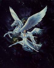 Dancing with Pegasus: Beautiful 8x10 In Fantasy Art Print