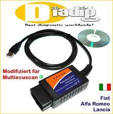 Interface Autodia PER FIAT ALFA ROMEO LANCIA OBD 2 Scanner Diagnosi Tester obd2